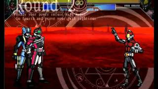 MUGEN NRBM Battle Fighting Decade & Diend vs Dark Rider