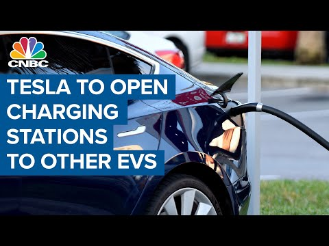 Tesla to open charging stations to other EVs