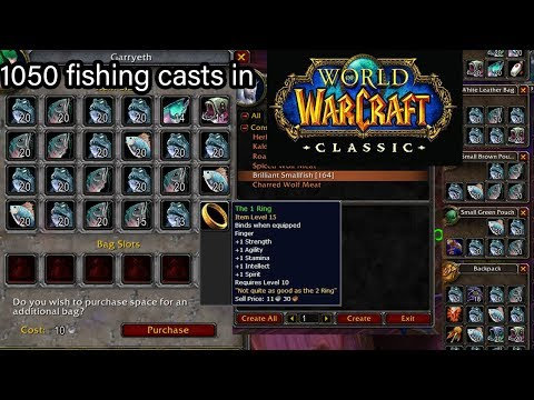 Classic Wow:  After Fishing 1050 Times, What Did I Get? (loot, Fish, Value...)
