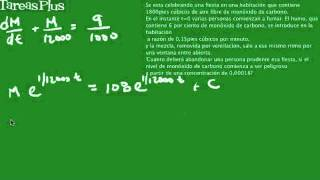 Ecuación diferencial monóxido de carbono