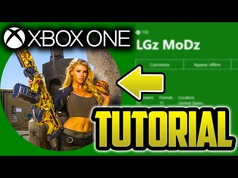 How to Get a Custom Xbox One Gamer Picture - BEST Tutorial 2017 (EASY)::