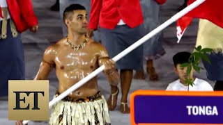 The Internet Loves Tonga's Shirtless Flag Bearer From the Olympics Opening Ceremony
