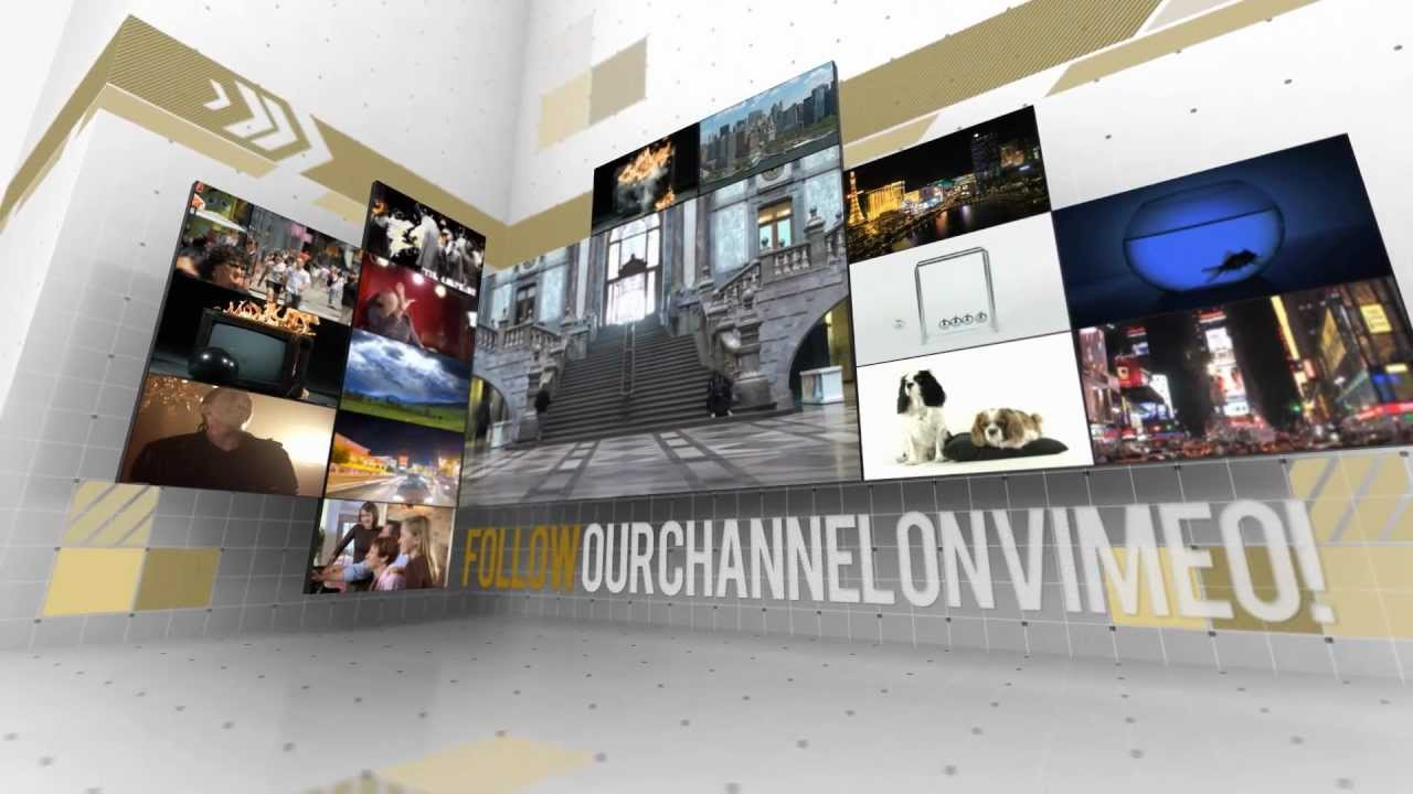 creative video wall after effects presentation - Video Wall Design