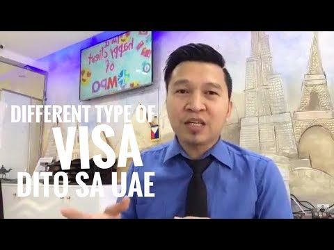 DIFFERENT TYPES OF VISA IN UAE (via FB Live)