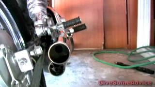 Drilling Exhaust Holes in 2004 Virago 250