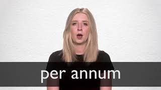 How To Pronounce Per Annum In British English