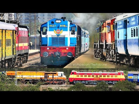 Double line CROSSING Trains | CLASHES | Indian Railways