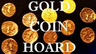 Hoard of BIG GOLD COINS found metal detecting!!!