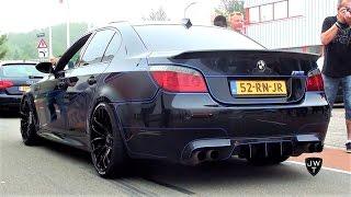TRON Edition BMW M5 E60 V10! REVS, Powerslides & More SOUNDS!