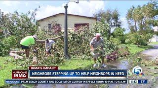 Neighbors helping neighbors across South Florida after Hurricane Irma