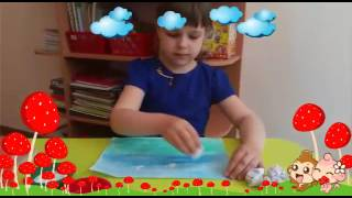 Рисование мятой бумагой