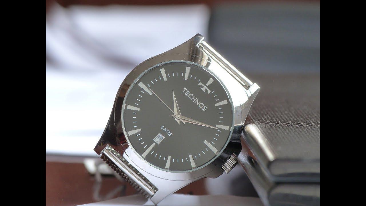1c8db2be49 Relógio Masculino Technos 2115LAL OP Classic Pulseira Mesh - YouTube
