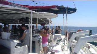 Ibiza Five Star catamaran:Music, sun and the sea with Hosh