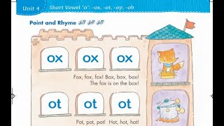 "Phonics Kids Level 4A-4/4   short vowel ""o""   ox ot op   ob od og  om ock   兒童英語拼讀"