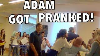 FIGHT DURING MEET & GREET PRANK!! (Adam Got Pranked)