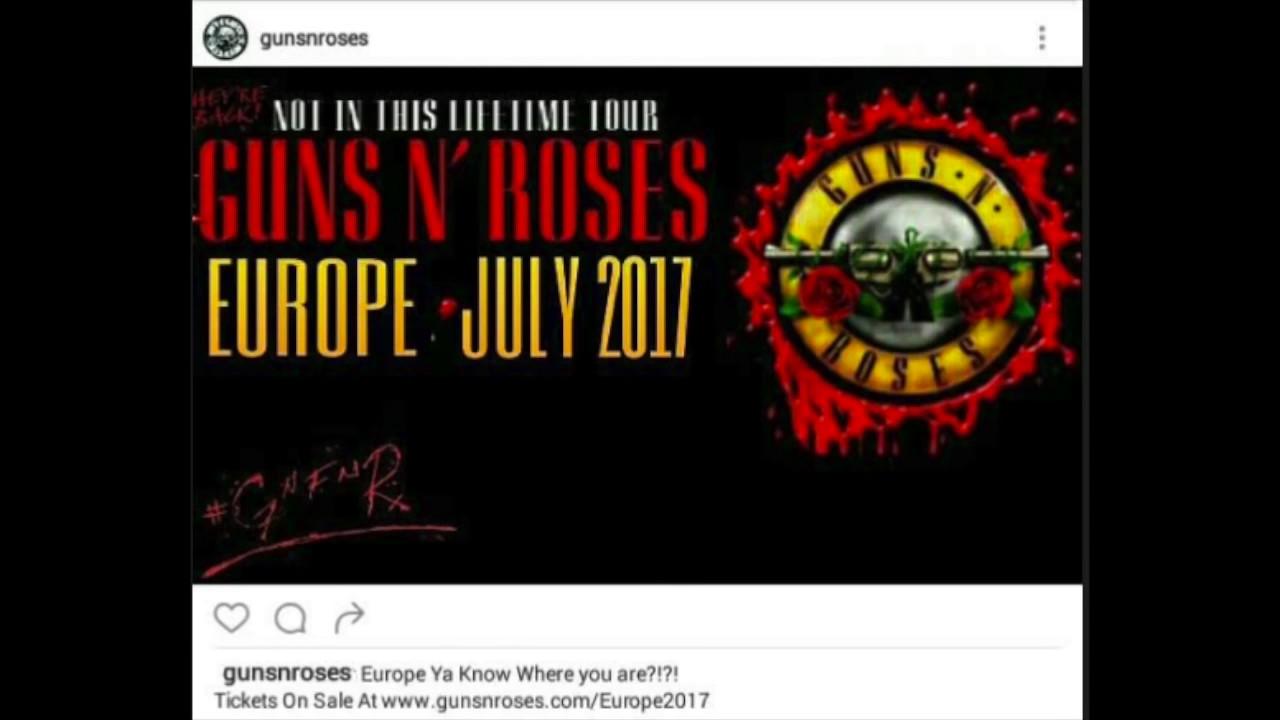 Guns N' Roses Reunion 2017 European Tour Dates Leaked!?
