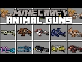 Minecraft EXTREME MOB GUNS MOD / ADD MOBS TO YOUR WEAPONS AND KILL BEASTS!! Minecraft