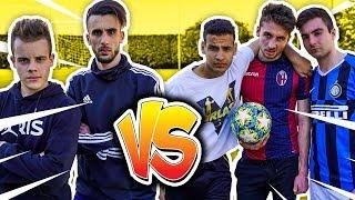 ⚽ 2 vs 2 TORNEO di CALCIO vs PIRLASV! FOOTBALL CHALLENGE OHM e ENRY LAZZA vs PIRLASV