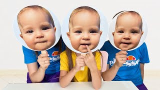 Маша и мама и забавная история о маске ребенка. Babies Masks Story