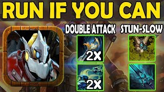 Imba Double Attack In a row & Stun + Slow [You Can't Escape] Ability Draft Dota 2