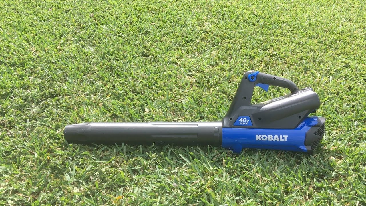 Unbox Test ReviewKobalt Cordless Leaf Blower YouTube