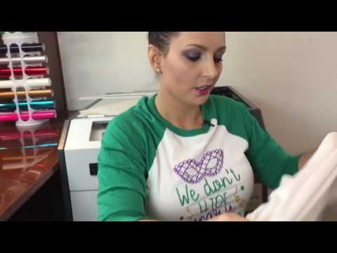 How to make an iron-on tshirt with Cricut and heat tran ...