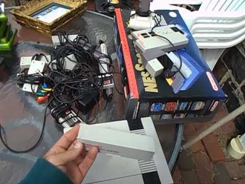 Nintendo NES Sports Set Video Games + Flea Market Garage Yard Estate Sale Finds Pick-Ups - 5/19/13