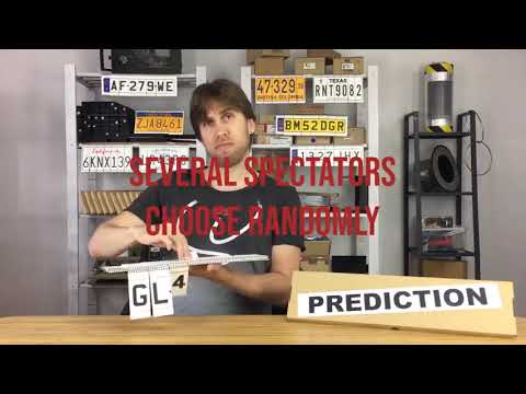 Saturn Magic -LICENSE PLATE PREDICTION - CALIFORNIA (Gimmicks and Online Instructions) by Martin An