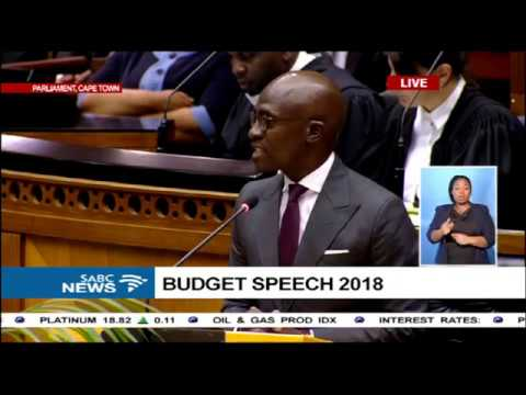 Finance Minister Malusi Gigaba's first maiden budget speech