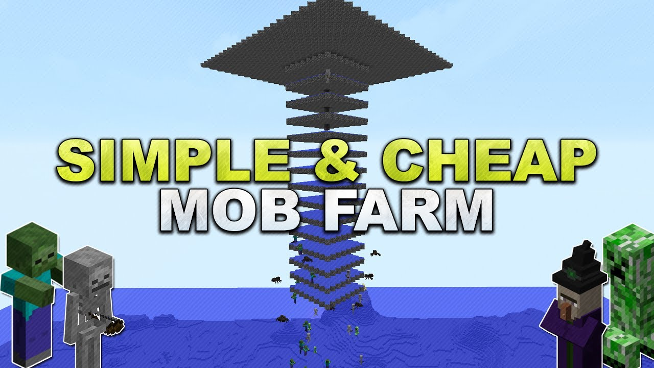 Minecraft Simple Cheap Mob Farm Tutorial YouTube - Minecraft geheime hauser