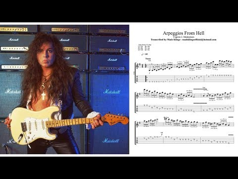Yngwie J. Malmsteen - Arpeggios From Hell Transcription