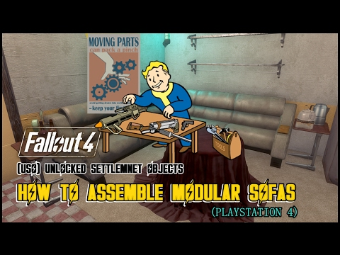 FALLOUT 4 | TIPS & TRICKS | UNLOCKED SETTLEMENT OBJECTS | HOW TO ASSEMBLE MODULAR SOFAS