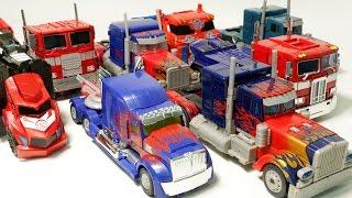 Transformers Big Optimus Prime 8 Vehicle Transformation Car Toys 트랜스포머 대형 옵티머스 프라임 자동차 장난감 로봇 변신 동영상