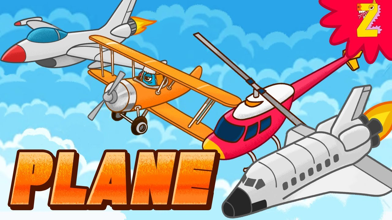 Air transport words rhymes  - Jet, Plane, Helicopter & Space Shuttle ! English educational video