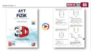 3D AYT Fizik Soru Bankası 5.Bölüm Test-5 (Paralel Levhalar-1) [2021]