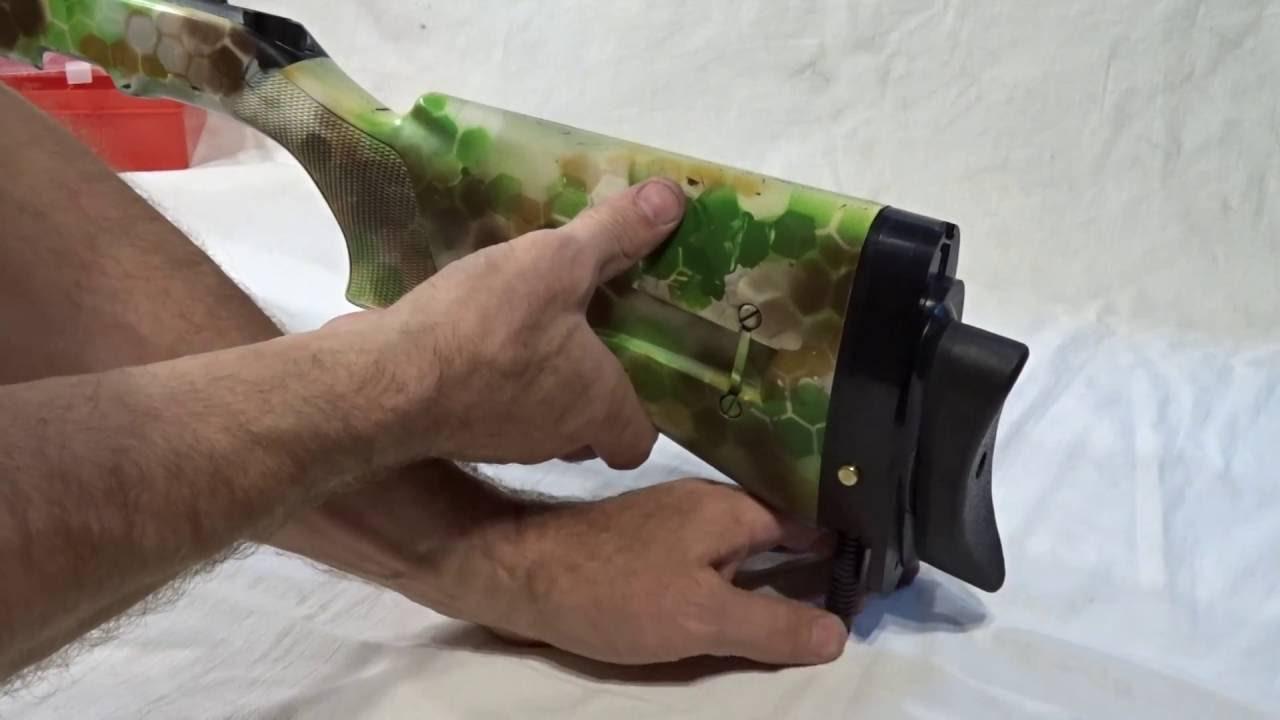 Затыльники амортизаторы на приклад оружия - YouTube