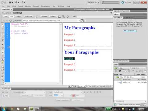 Dreamweaver Tutorial 4: Tag, Class, And ID Selectors In CSS