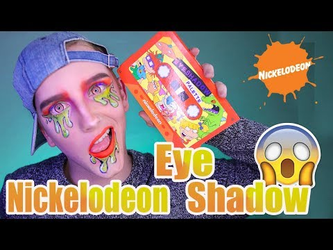 90's Eyeshadow Palette   Nickelodeon Hot Topic Palette Review   DanielzROTFL
