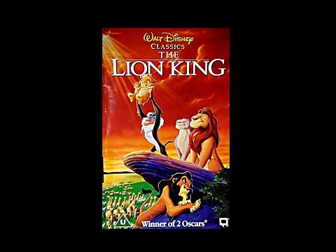 Digitized opening to The Lion King (1995 UK VHS)
