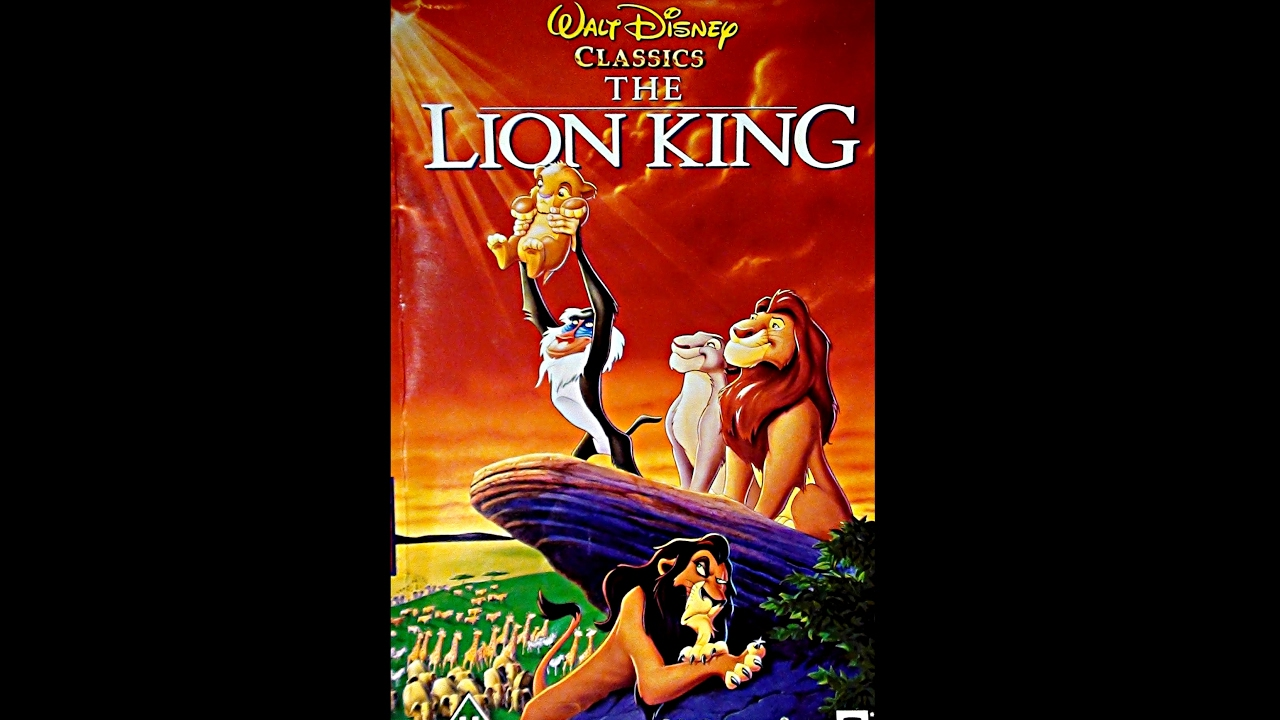opening to the lion king 1995 vhs version 4