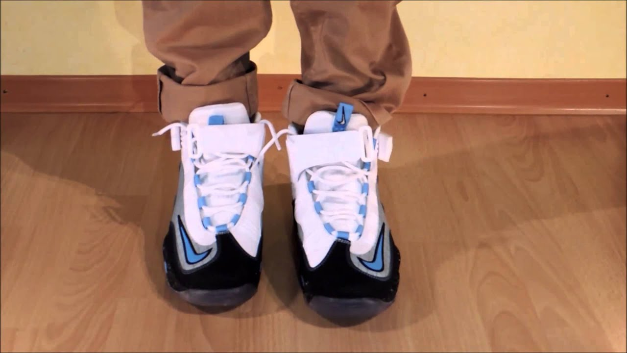 656ad168557b7 Nike Air Griffey Max 1 Premium NYC - Metallic Silver   University Blue on  feet