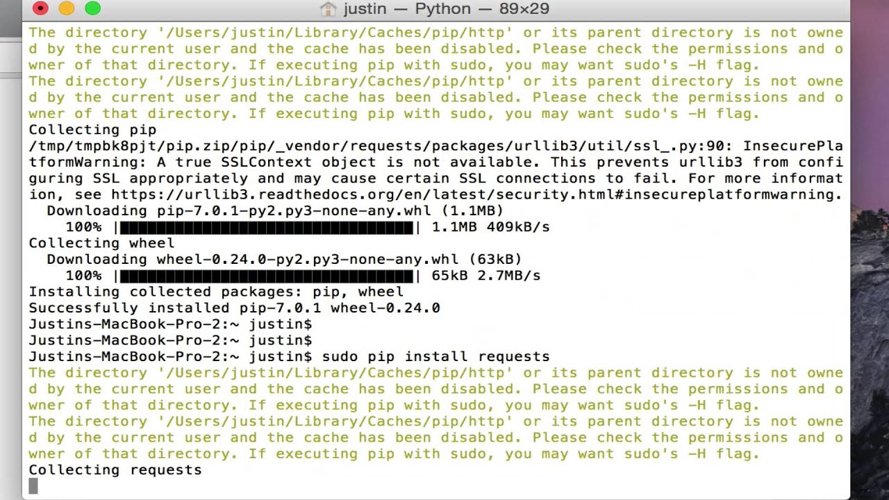 Installing Python Pip on Mac OSX
