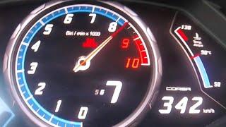 Lamborghini Huracan w/ akrapovic exhaust Acceleration 0-342 km/h LP...