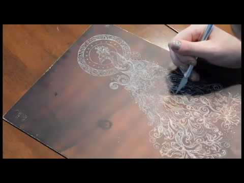 Art By Chelsea - Copper Plate Etching Process Demo
