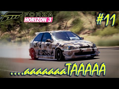 Forza Horizon 3 I Greek Gameplay #11 : Βγάζω τσάρκα το Civic!