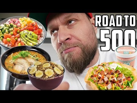 Eating On The Road - Sushi, Ramen Noodles, Poke Bowls, Acai, Salads & More | Road to 500 Ep. 7