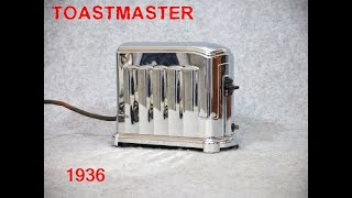 """TIK-TAK  --  1936 GE Toastmaster Automatic Toaster 1A4 - """"The toast can´t Burn"""" !"""