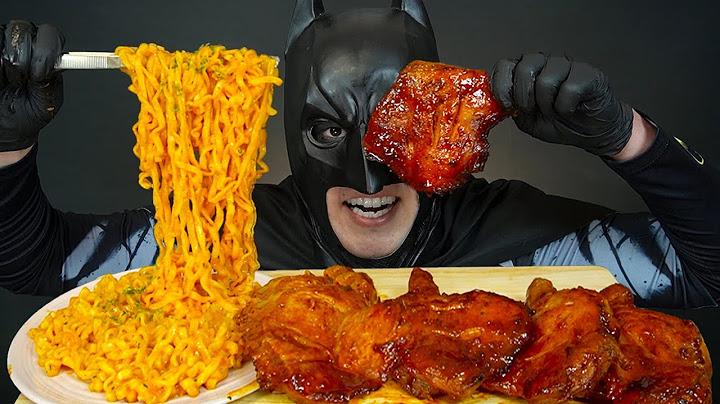 MUKBANG 꾸덕한 크림진짬뽕에 자메이카 통다리 치킨 먹방🍗 Spicy Cream Noodles with Grilled Chicken Leg ASMR