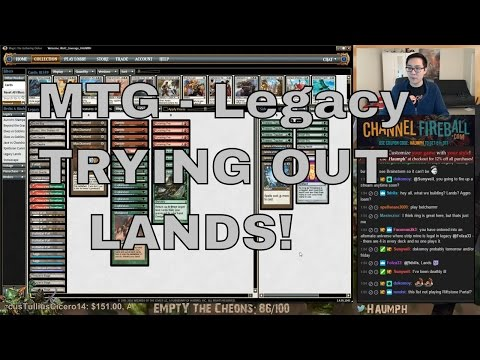 MTG - Trying out LEGACY LANDS!!!