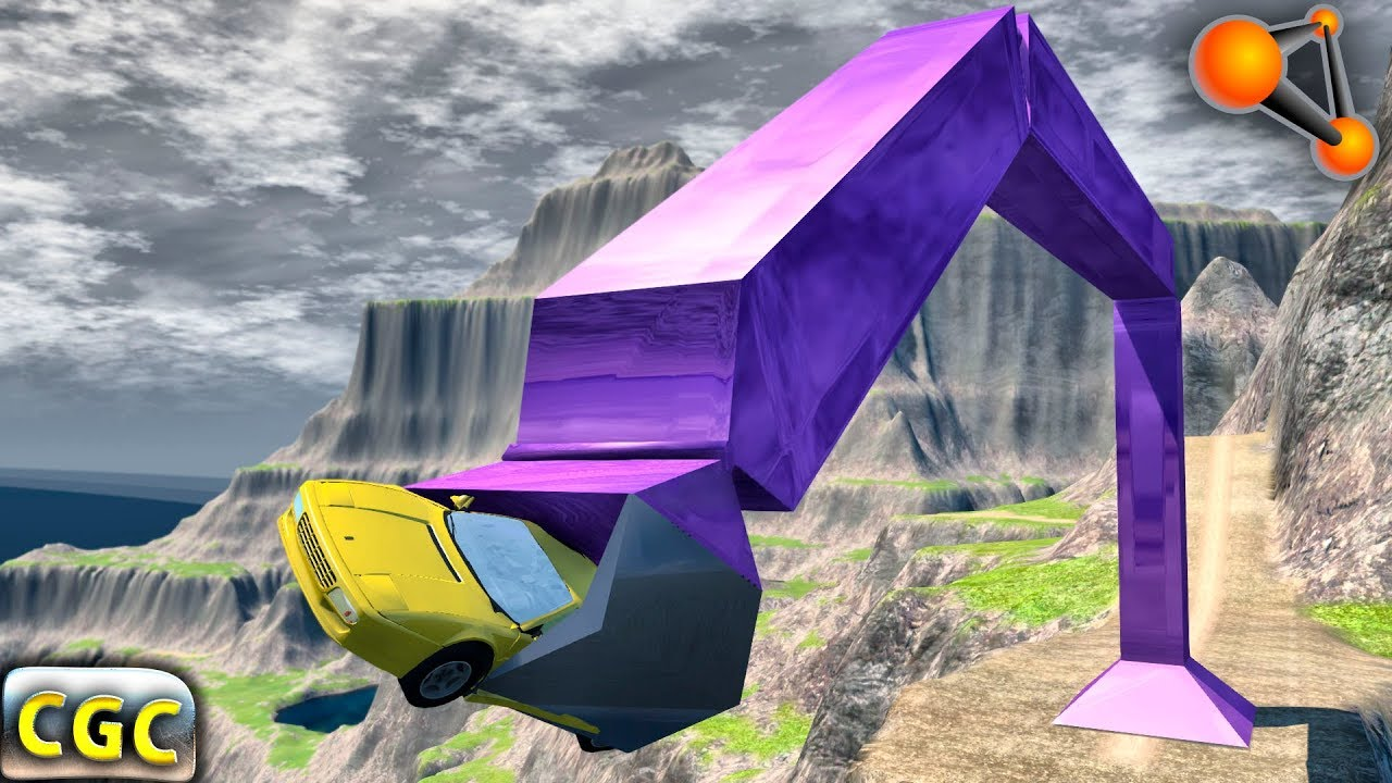 BeamNG Drive Giant CLAW destoying cars